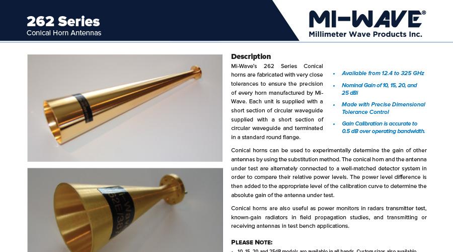 conical horn antenna catalog