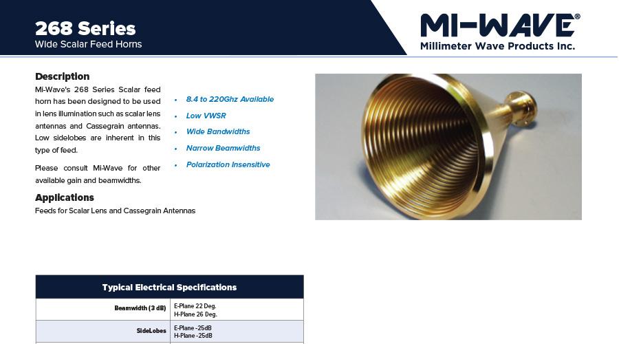 scalar feed horn antenna catalog