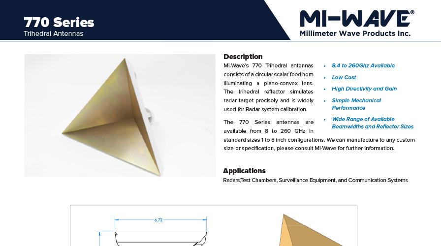 corner reflector antennas catalog