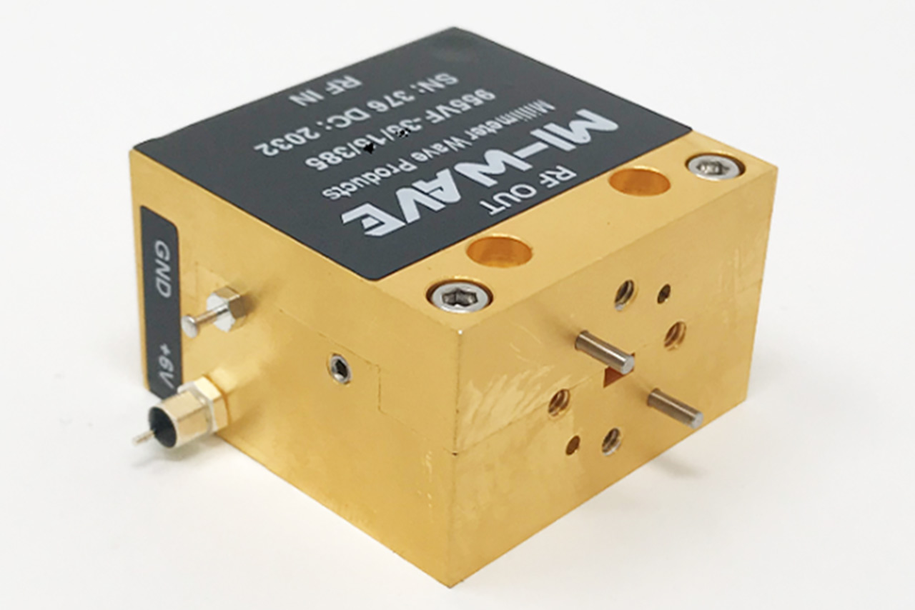 955VF-30-10-385, Low Noise Amplifier, 50 GHz - 75 GHz, Small Signal Gain 30 dB, Noise Figure 5.0 dB