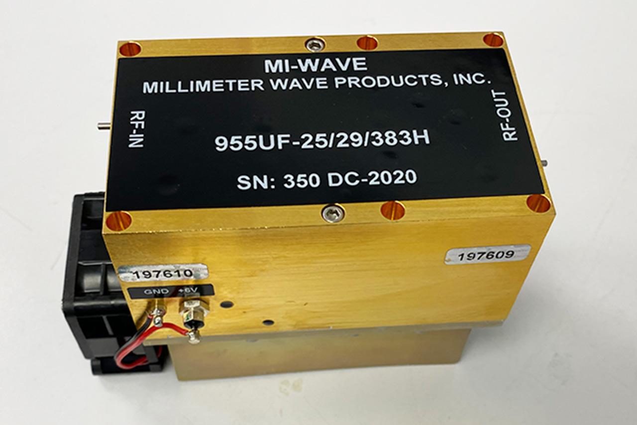 955UF-25/29/383H, Rf Power Amplifier, 40GHz - 60GHz, Small Signal Gain (dB) 25dB, Output Saturated Power (dBm) +29 dBm, Noise figure (dB) 5dB