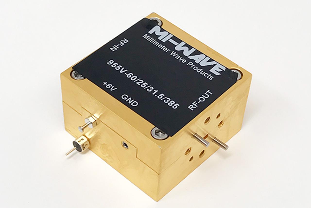 59-61 GHz V band Power Amplifier, Small Signal Gain (dB) 25 dB, Output Power (Psat) (dBm) +31.5 dBm, Amp Bias +5V to +8V